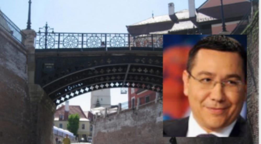 Podul Minciunilor din Sibiu își schimbă denumirea în Podul Victor Ponta!