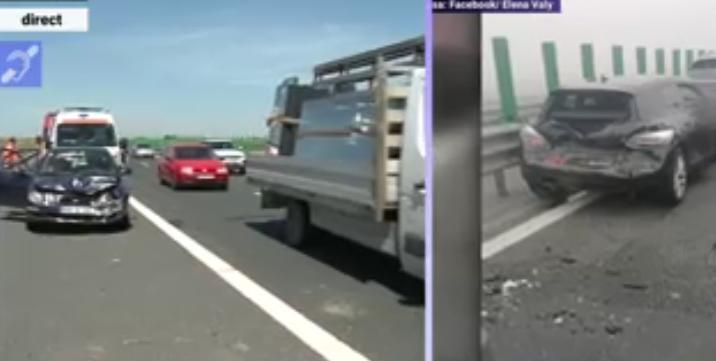 Carambol pe Autostrada Soarelui! Poliția recomandă autostrăzile ocolitoare din Moldova, unde nu au fost niciodată probleme!