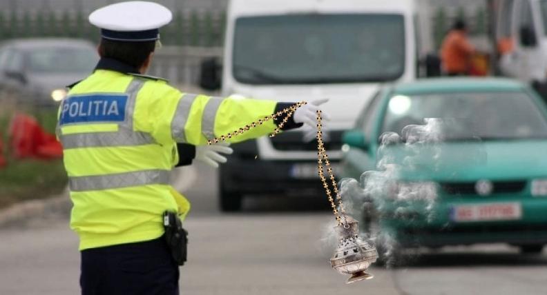 Poliția va fi dotată cu cădelnițe, ca să-ți dea şi Duh Sfânt pe lângă amendă!