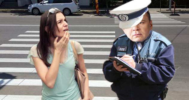 Poliția Rutieră din Caracal a amendat o femeie pentru că era pe stop!