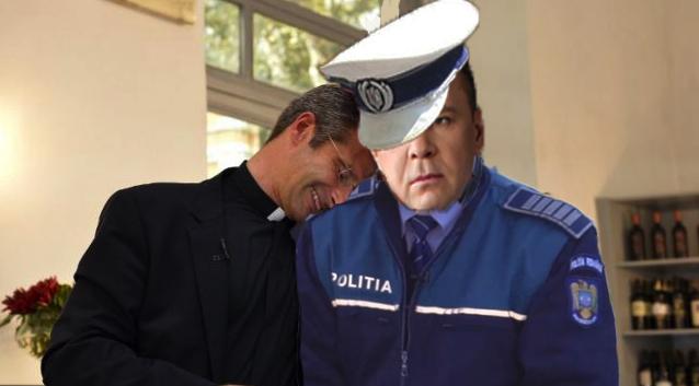 Un polițist de la Rutieră a apelat la popă după ce nevasta i-a zis că o doare capul!