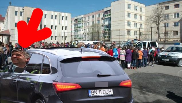Pomocraci, prins de poliția rutieră respectând legea:a redus viteza în dreptul unei școli!