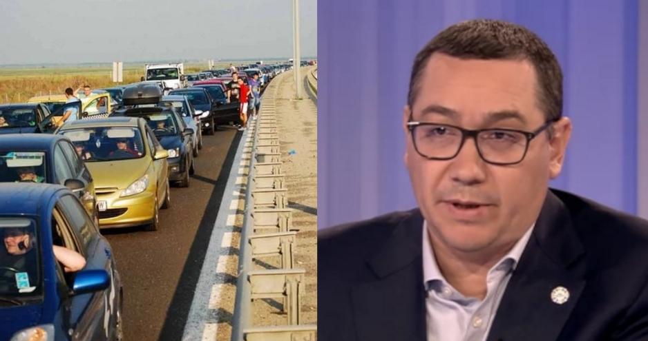 """Ponta explică de ce se formează cozi pe autostrăzi: """"Sunt unii șoferi care se pun de 3-4 ori la rând ca să-i dea la televizor!"""""""
