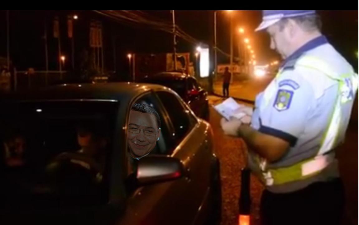 Victor Ponta a fost prins beat la volan!