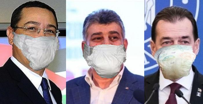 În loc de măşti chirurgicale, politicienii pot folosi şi pamperşi. Deja folosiți!