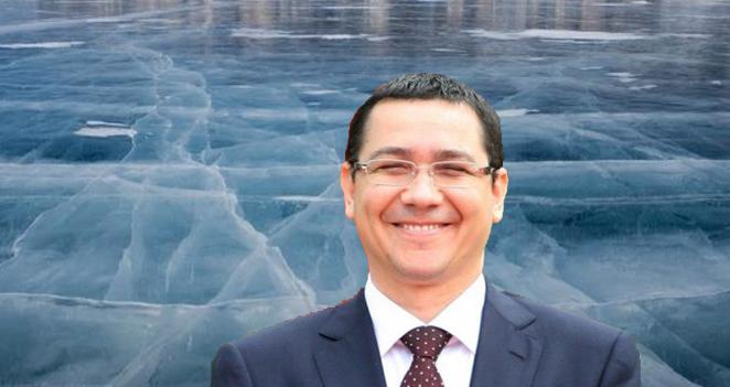 A învins codul roșu de caniculă: Ponta a înghețat un lac cu o singură minciună!