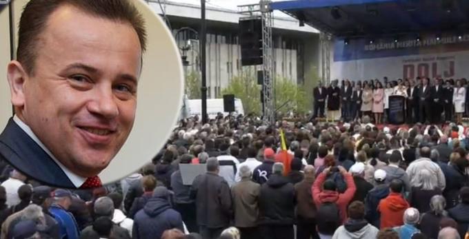 """Liviu Pop îl corectează pe Dragnea: """"Au fost mai mult de 45.000 la miting. Vreo 8.000!"""""""