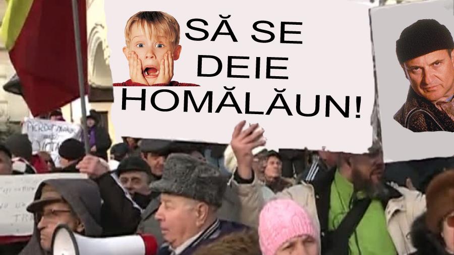 """Miting în fața PROTV-ului: oamenii cer să se dea """"Singur acasă""""!"""