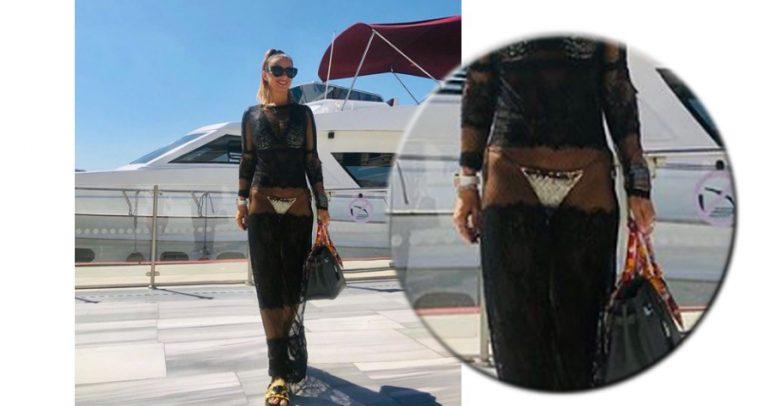 Anamaria Prodan în rochie cu vedere la chiloți! Ar trebui să stea așa în spatele porții adverse – să vezi atunci ce atacuri bagă FCSB!