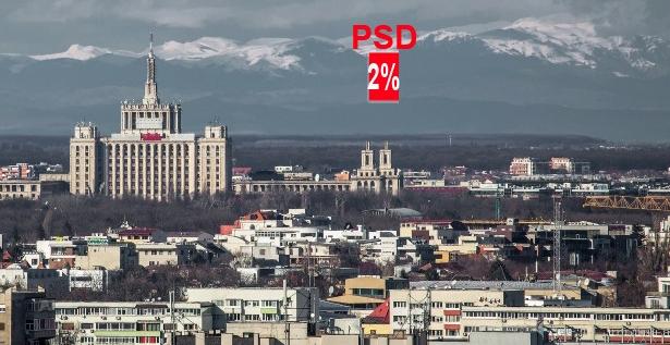 E atât de senin în București încât se vede cum PSD scade sub ALDE la următoarele alegeri!