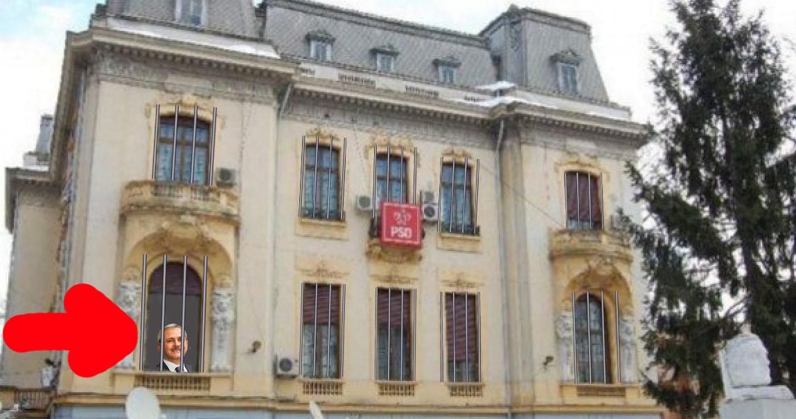 Schimbare la sediul PSD: Și-au pus gratii la ferestre, ca să se obișnuiască!