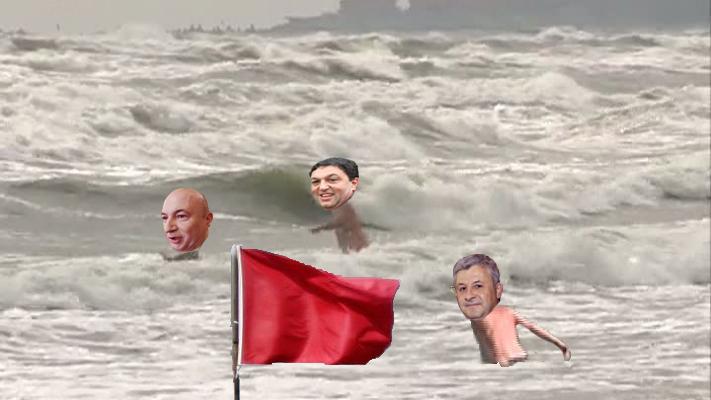 Atenție PSD-iști: Steagul roșu pe plajă înseamnă că marea e numai a voastră!