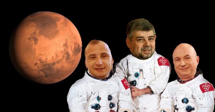 PSD va trimite un echipaj pe Marte, ca să fie şi acolo primii la furat!