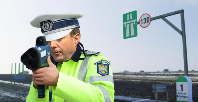 Poliția a pus radar pe metrul de autostradă din Moldova!