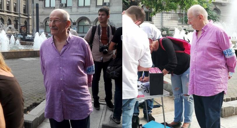 Victor Rebengiuc strânge semnături împotriva penalilor. La 85 de ani! Respect, maestre!