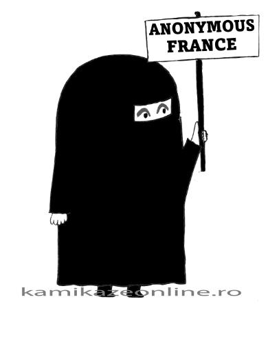 Masca grupării Anonymous France