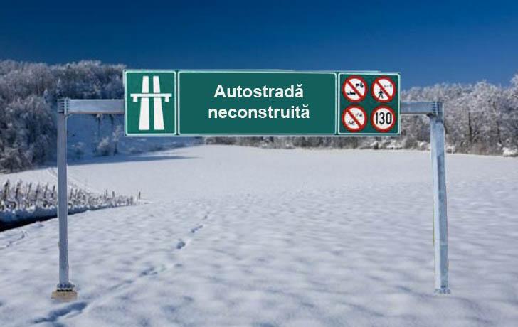 Pe autostrăzile neconstruite nu sunt probleme cu zăpada