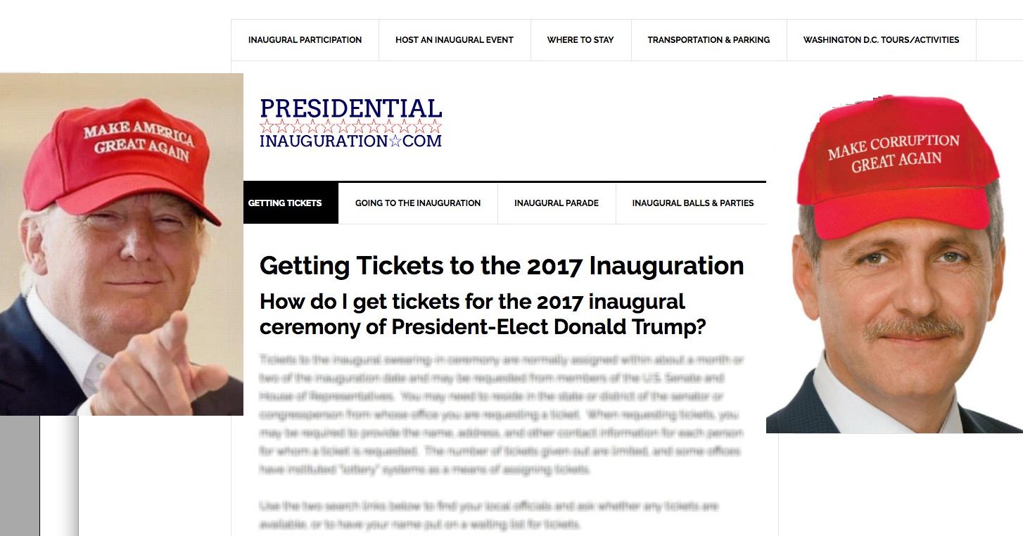 """De unde vă puteți cumpăra și voi """"invitație"""" la ceremonia de învestire a lui Donald Trump"""