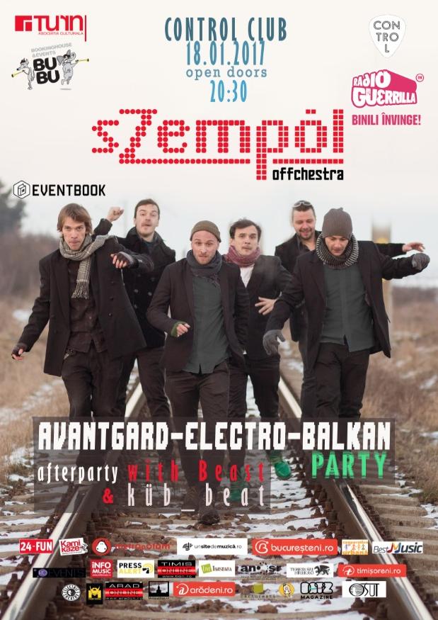 Avantgard-electro-balkan party cu sZempöl Offchestra