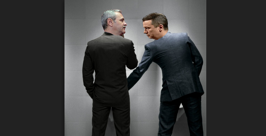 """Grindeanu, surprins în timp ce îi ținea puța lui Dragnea la pisoar: """"Suntem o echipă!"""""""