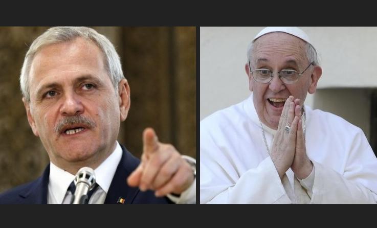 """Dragnea cere ca Papa Francis să fie amendat: """"A defăimat corupția!"""""""