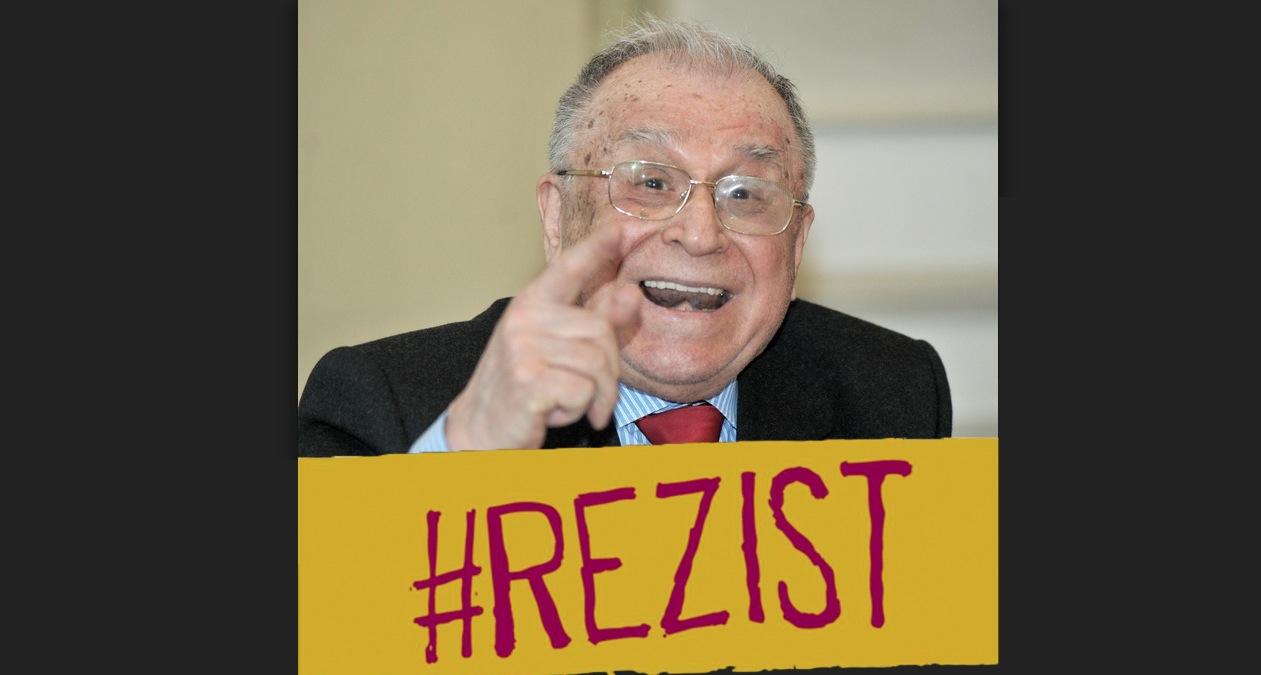 """Moartea e disperată! Iliescu și-a pus """"#rezist"""" pe ușă"""