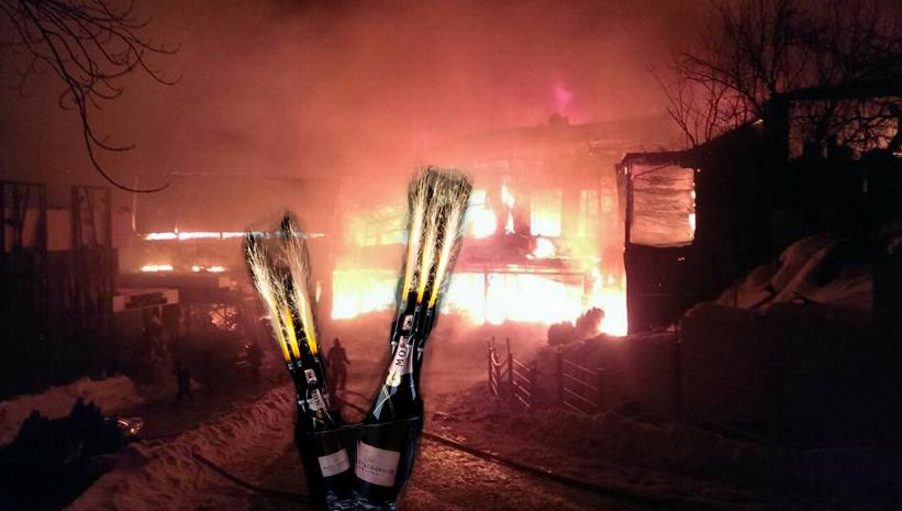 Incendiu la Bamboo: Șampăniile cu artifică ucide!
