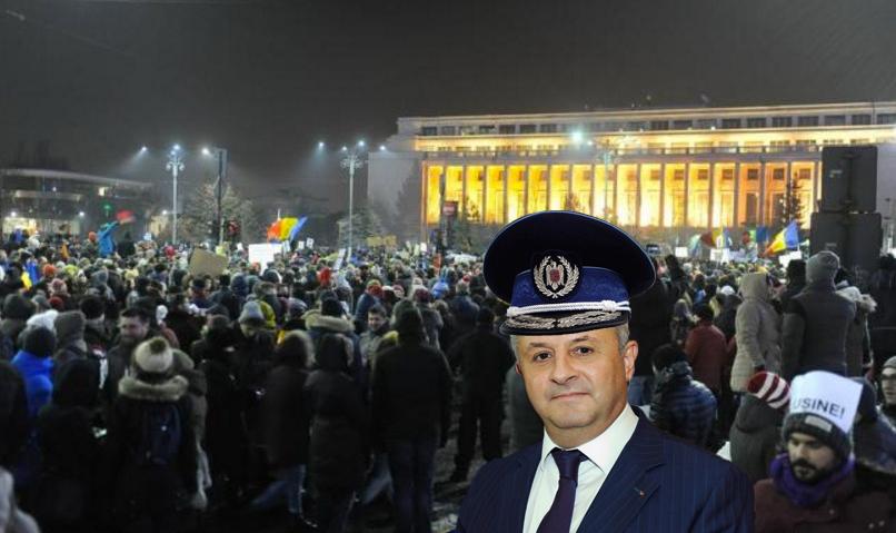 """Ciordache a ajuns printre protestatari! """"M-a trimis domnul Dragnea să dau amenzi"""""""