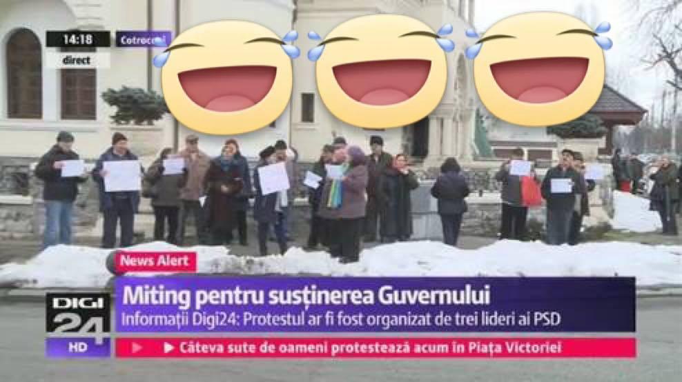 Iată și mitingul lui Dragnea-Codrin-Olguța: 25 de pensionari însumând 8 dinți