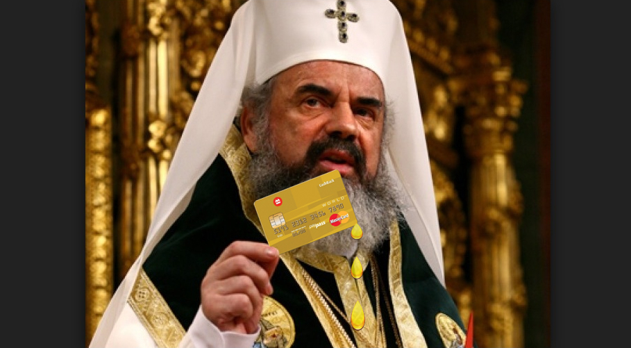 Miracol! Patriarhul Daniel are un card care lăcrimează când e gol