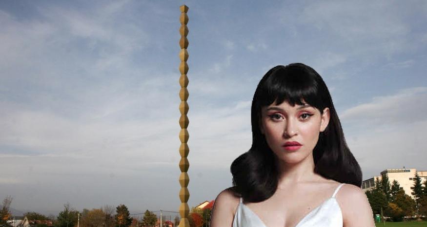"""Irina Rimes, dezamăgită de Brâncuşi: """"Domnul sculptor nu a terminat Coloana Infinitului! N-a apucat săfacădecât 30 de metri din ea!"""""""