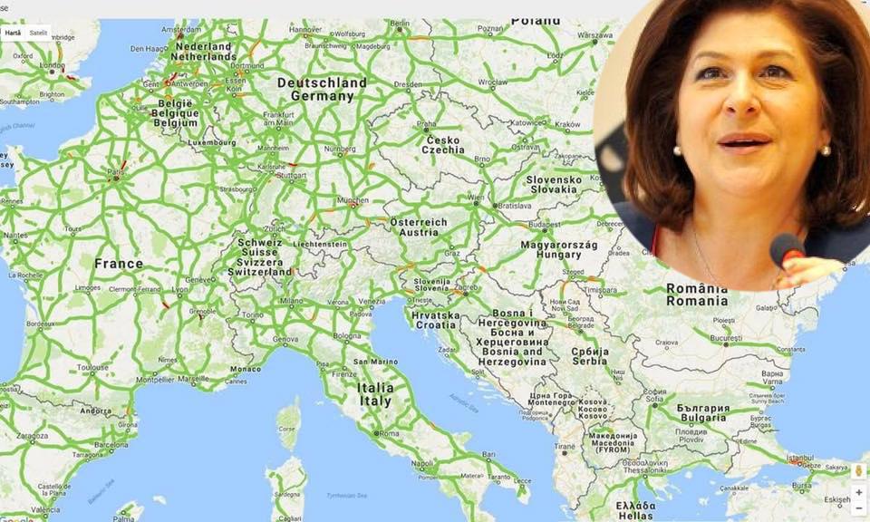 Rovana va ficomisar european pentru transporturi!Dacă n-am fost în stare să avem autostrăzi ca în UE, măcar să aibă UE autostrăzi ca la noi!