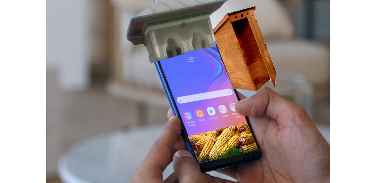 Samsung a lansat în România un telefon cu 5 camere și veceu în curte!