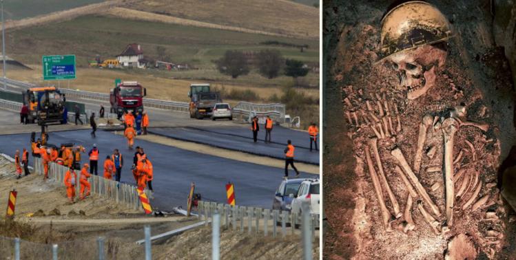 Un muncitor de la Autostrada Transilvania a găsit scheletele altor doi muncitori de la Autostrada Transilvania!