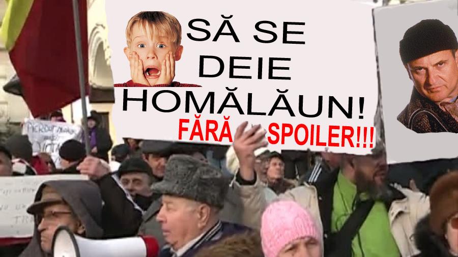 """Miting în fața PROTV:oamenii protestează împotriva spoilerelorla""""Singur acasă"""" carele strică toată surpriza!"""