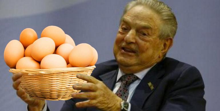 Soros a exagerat cu generozitatea: a dat 5 ouă de om și 3 de câine!