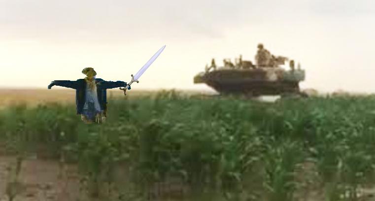 Măsuri după ce blindatele americane au distrus culturile agricole din Ialomița: câmpurile vor fi dotate cu sperietoare de tancuri!