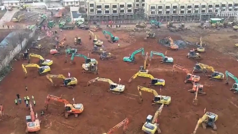 Cum să faci un spital în 6 zile? Chinezii nu ştiu că doar proiectul durează 6 ani?