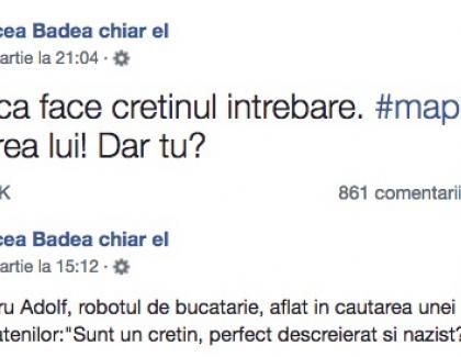 """Mircea Badea l-a făcut """"cretin"""" pe Iohannis. Să-i amintim cine e de fapt cretin, că de la atâtea lovituri în cap o fi uitat"""