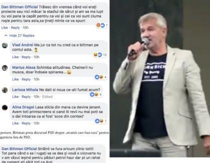 Dan Bittman nu se poate opri din mâncat rahat cu ciolan pe Facebook