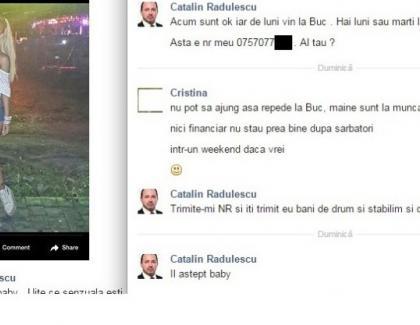 Cum agață Cătălin Rădulescu-Mitralieră pe Facebook: cu bani!