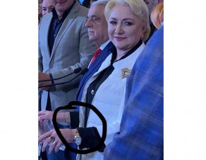 Să ai ceas care costă cât 150 de pensii şi să promiți încă 100 de lei oamenilor ca să te voteze - asta înseamnă să fii femeie şi mamă muncitoare şi implcată, alături de fiecare român!