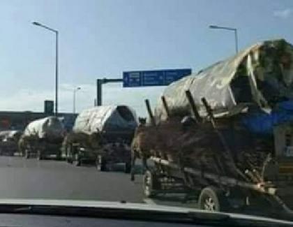 Convoi umanitar la intrarea în Arad!