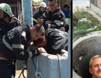 Succes total: Copilul din Teleorman care a căzut în puț a fost salvat și în locul lui a fost băgat Dragnea