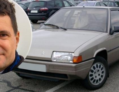 Maşina lui Nicuşor Dan -unCitroen din 1986. Râde Fierea şi cu sârma de săraku' ăsta!