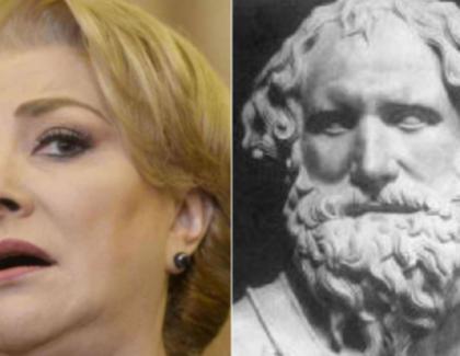 Arhimede o somează pe Viorica Dăncilă să spună câte laturi are cercul!