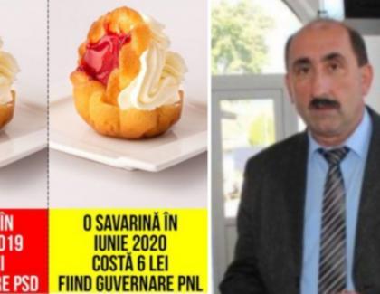 Primarul PSD care a acuzat PNL că a dublat prețul savarinelor a trecut la PNL. Frișca rămâne la el