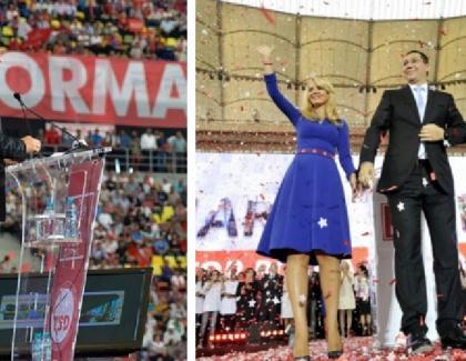 2014: Victor Ponta făcându-şi ziua pe Arena Națională. Nua băut, nu a fumat. Nota de plată: 220.000 de lei doar stadionul