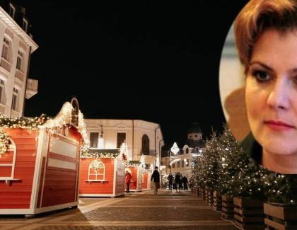 Târgul de Crăciun al Olguței Vasilescu,închis după o oră de la deschidere deoarece Claudiu Manda e un anaflabet!