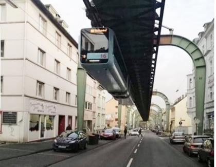 În Germania, tramvaiele au fost pusepe sus, ca să numai încurce BMW-urile!